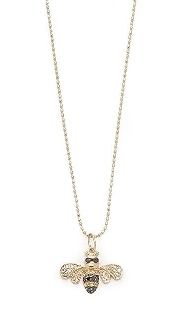 Sydney Evan 14k Gold Bee Necklace with Diamonds