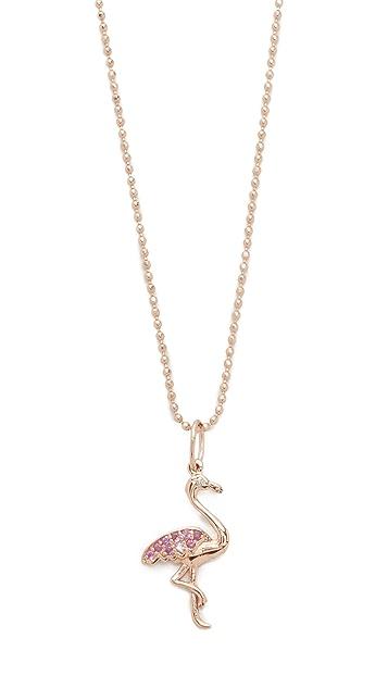 Sydney Evan Flamingo Necklace