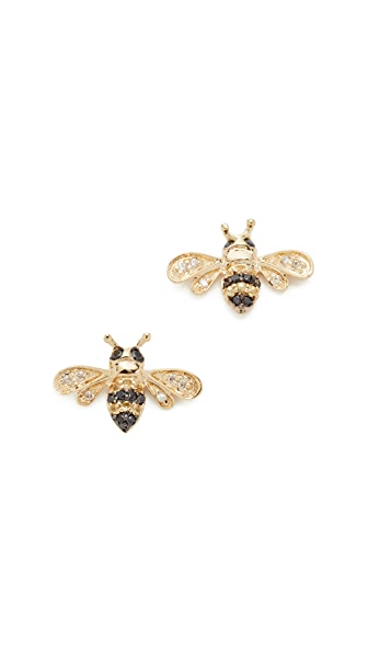 Sydney Evan 14k Gold Bee Studs