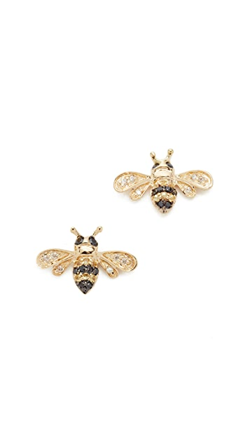 Sydney Evan 14k Gold Bee Studs
