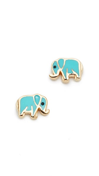 Sydney Evan 14k Gold Mini Elephant Studs - Gold