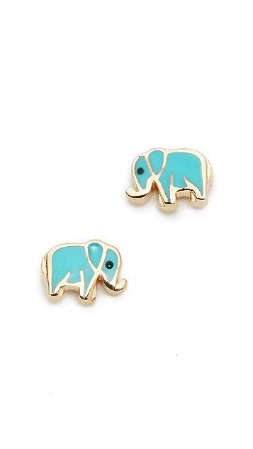 Sydney Evan 14k Gold Mini Elephant Studs