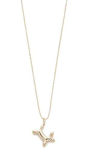 Sydney Evan 14k Gold Balloon Dog Charm Necklace - Gold