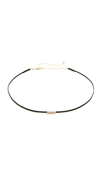Sydney Evan 14k Gold Mini Bar Bead Choker