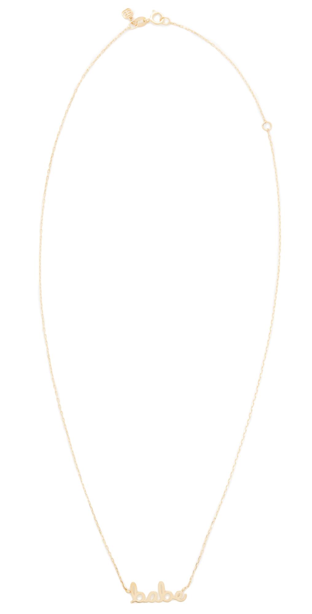 Sydney Evan 14k Gold Small Babe Necklace