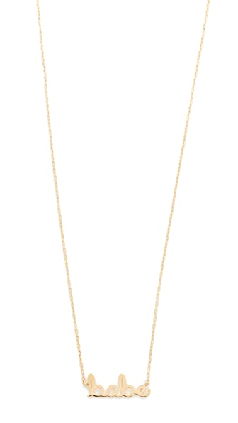 Sydney Evan 14k Gold Small Babe Necklace - Gold