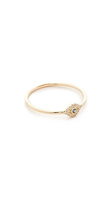 Sydney Evan 14k Gold Small Evil Eye Ring