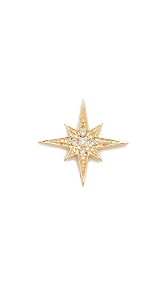 Sydney Evan Small Starburst Stud - Gold