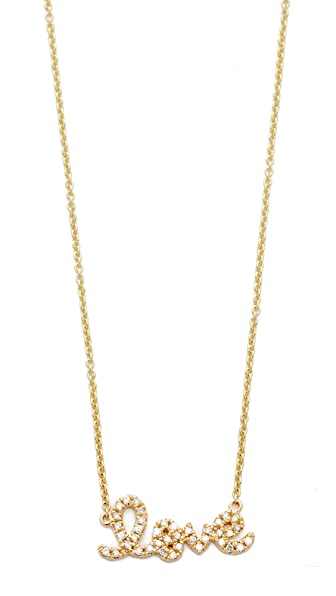 Sydney Evan Small Love Necklace - Gold