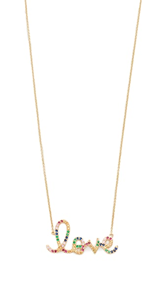 Sydney Evan Rainbow Large Love Necklace