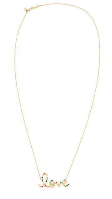 Sydney Evan Rainbow Large Love Necklace