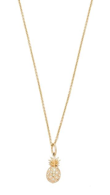 Sydney Evan Pave Pineapple Charm Necklace