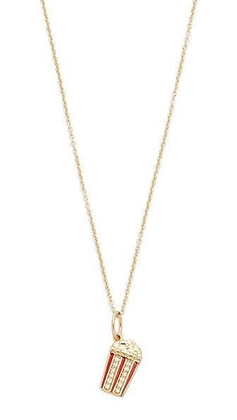 Sydney Evan Popcorn Charm Necklace - Gold