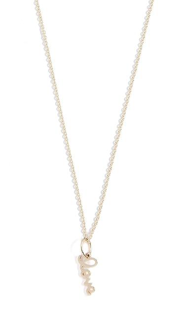 Sydney Evan Tiny Pure Love Charm Necklace