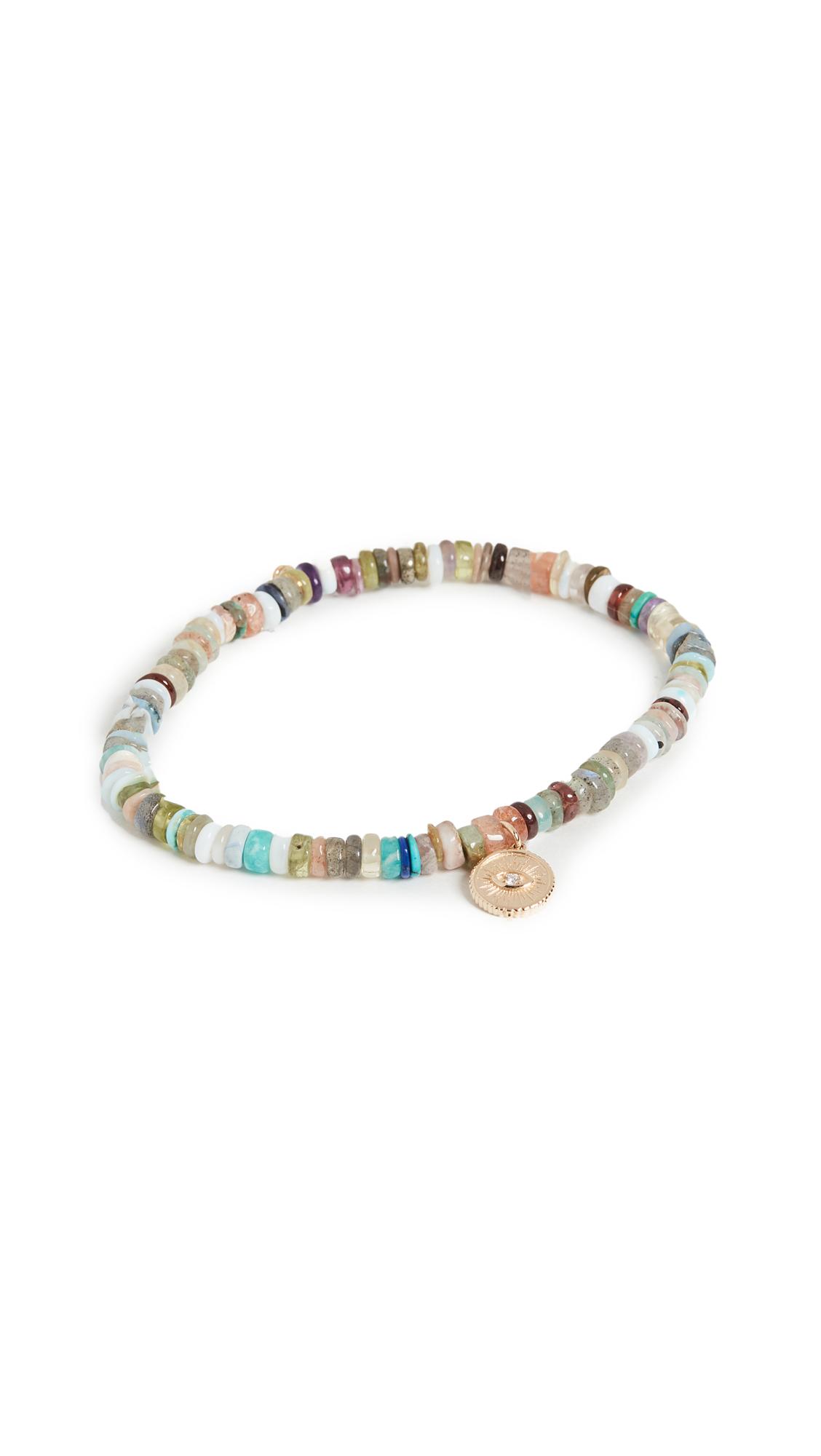 Sydney Evan Small Marquis Eye Coin Bracelet