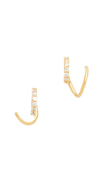 Tai Spiral Pave Earrings