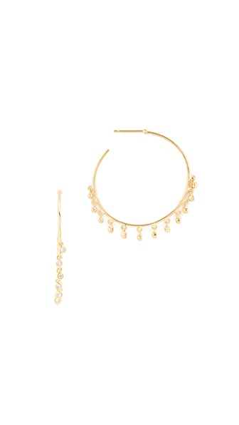 Tai Pave Hoop Earrings - Gold/Clear