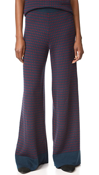 Tak. Ori Wide Leg Pants In Blue