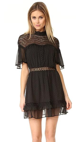 Talulah Stary Night Mini Dress - Black