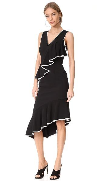 Talulah Thinking Out Loud Midi Dress - Black/White