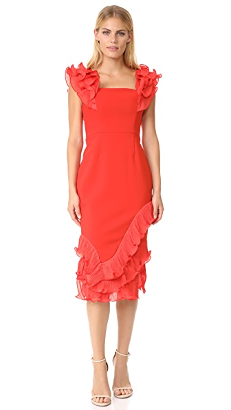 Talulah Rosa Ruffle Midi Dress