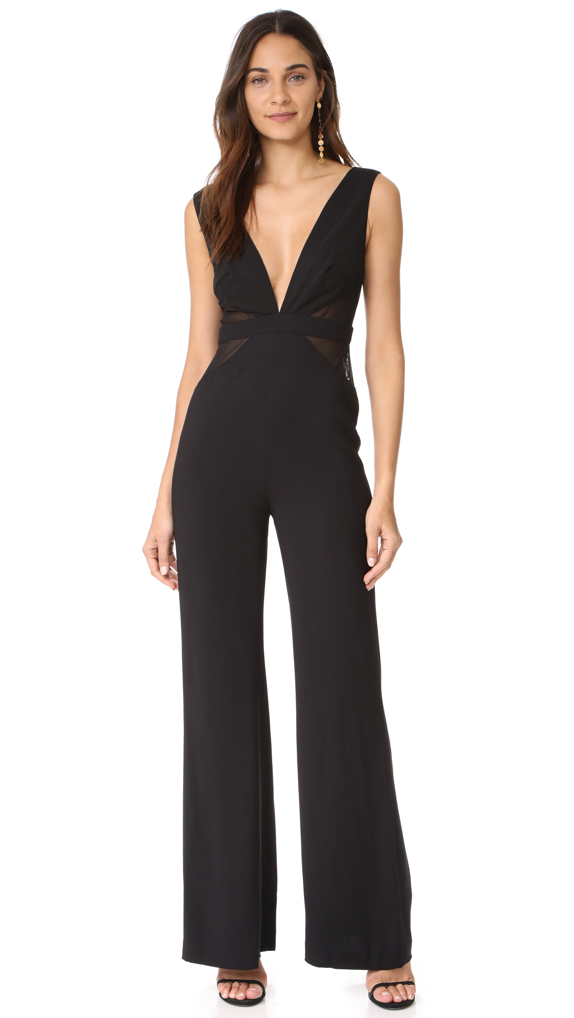 Talulah Staccato Contrast Jumpsuit - Black