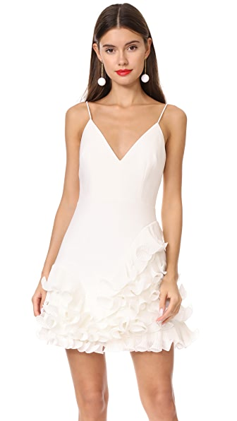 Talulah Golda Ruffle Mini Dress In Ivory