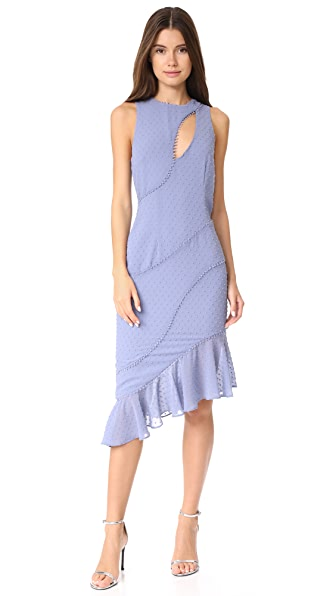 Talulah Sweet Allure Asymmetrical Midi Dress In Allure