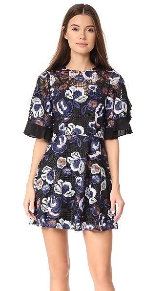 Talulah Estee Multi Lace Mini Dress In Black Multi Lace
