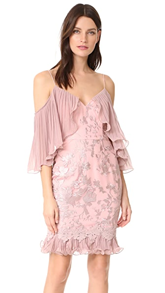 Talulah Valencia Rose Off Shoulder Mini Dress - Woodrose