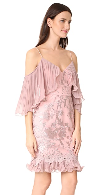 Talulah Valencia Rose Off Shoulder Mini Dress
