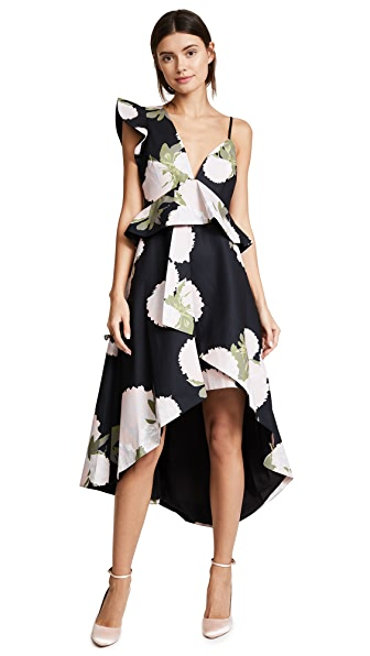 Talulah New Woman Midi Dress In Naked Floral Print