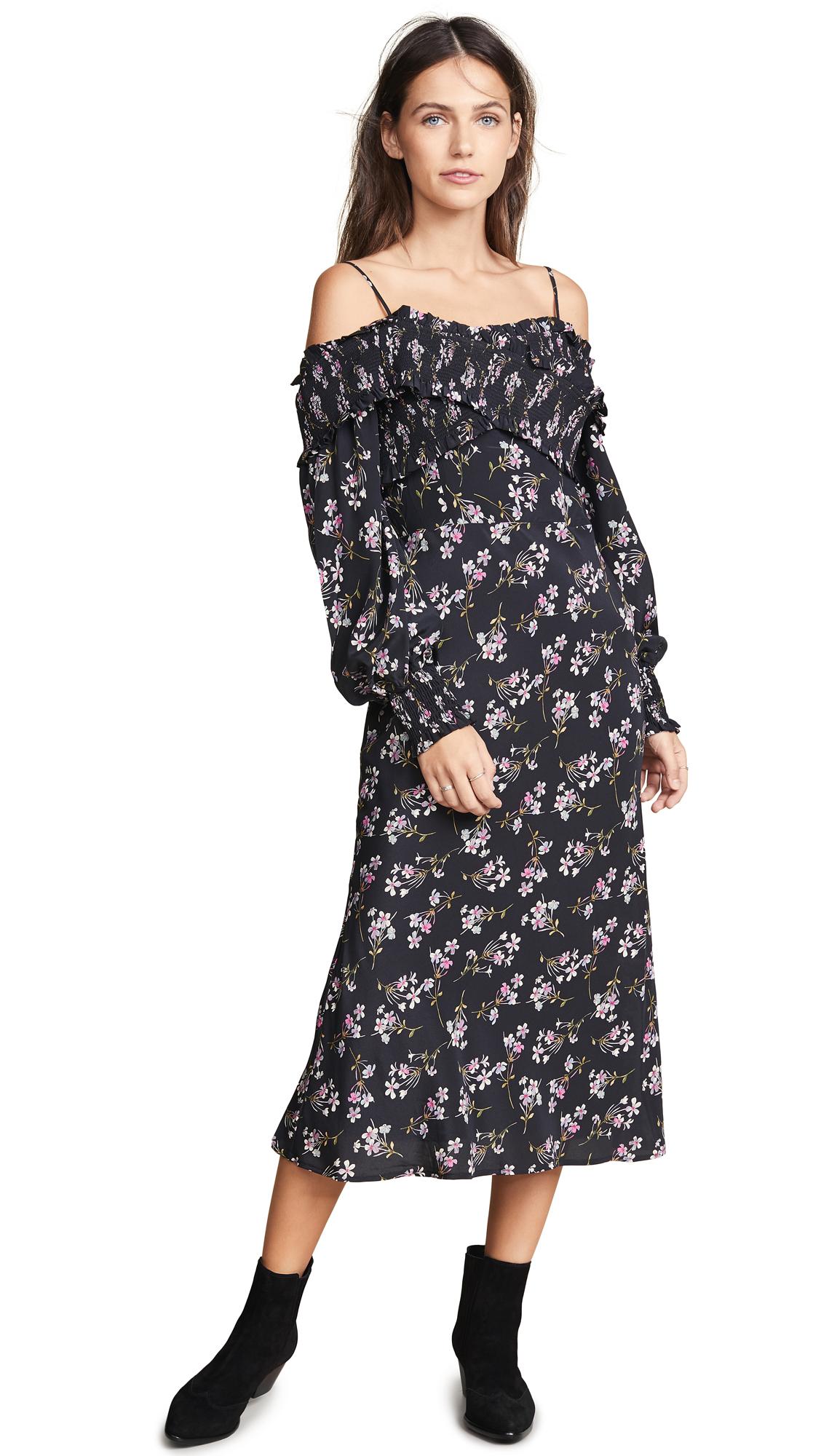 La Maison Talulah Chaleur Midi Dress in Violet Print