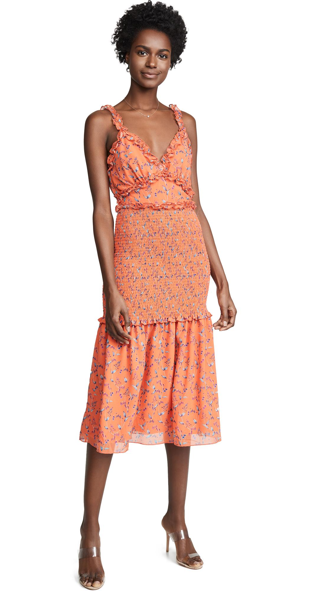 La Maison Talulah Daring Day Midi Dress in Bonnie Floral Print