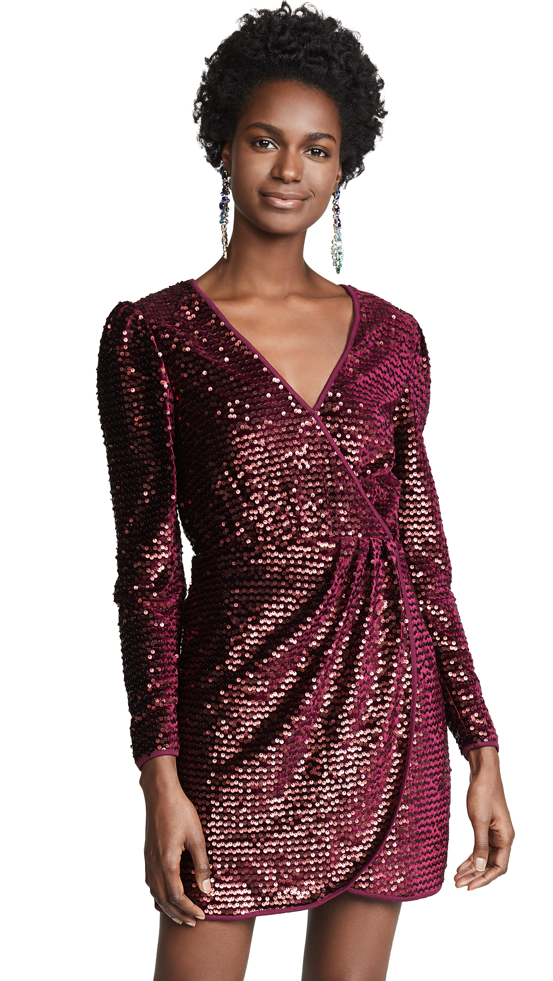 La Maison Talulah For Now Mini Dress - Burgundy