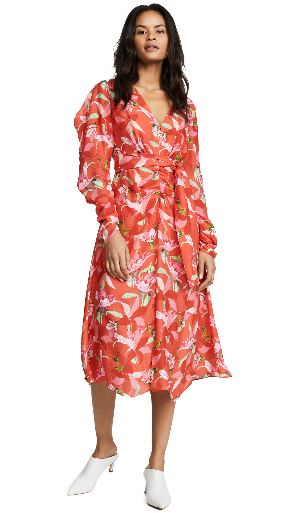 La Maison Talulah Daiquiri Midi Dress - Strawberry Daiquiri