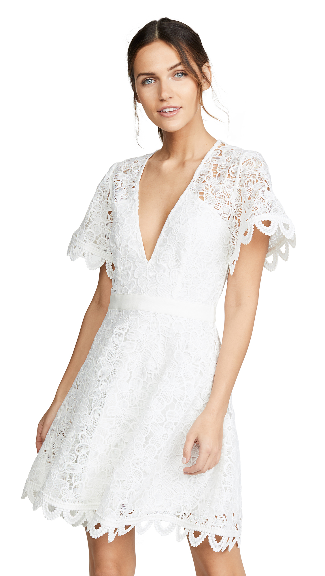 La Maison Talulah Infatuation Mini Dress - White Floral