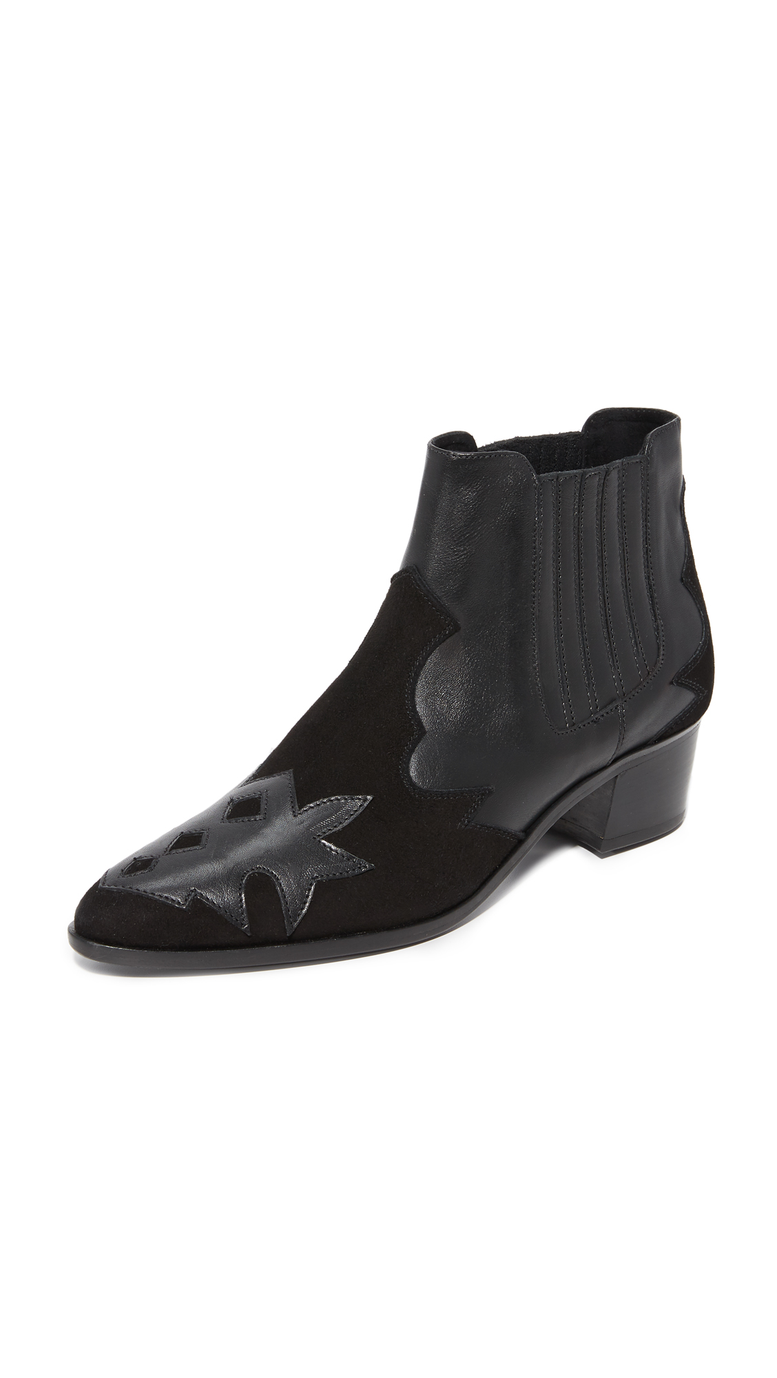 The Archive Bleeker Booties - Black/Black
