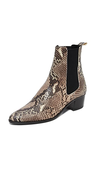 The Archive Mercer Mid Booties - Snake