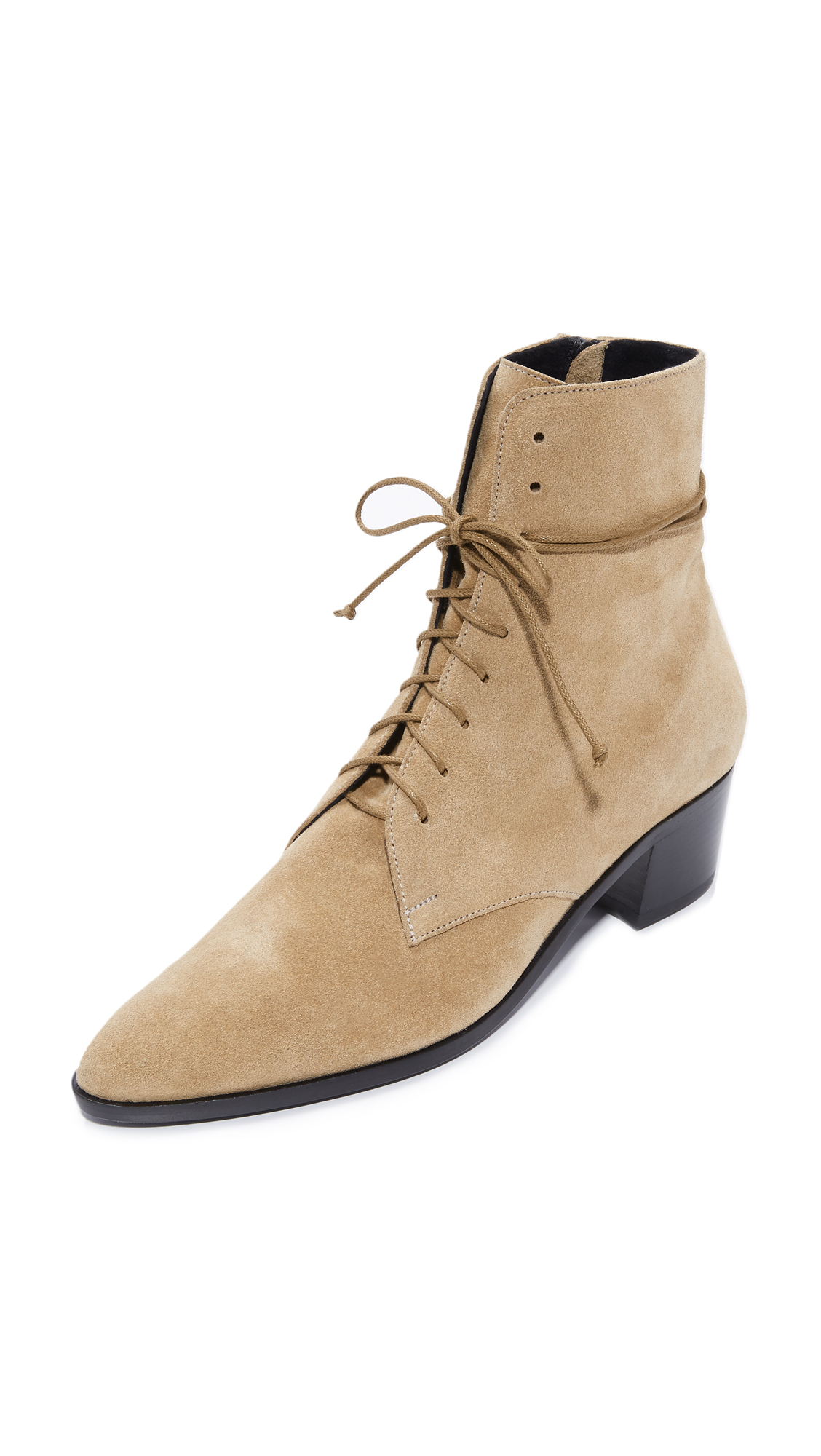 The Archive Barrow Lace Up Booties - Camel