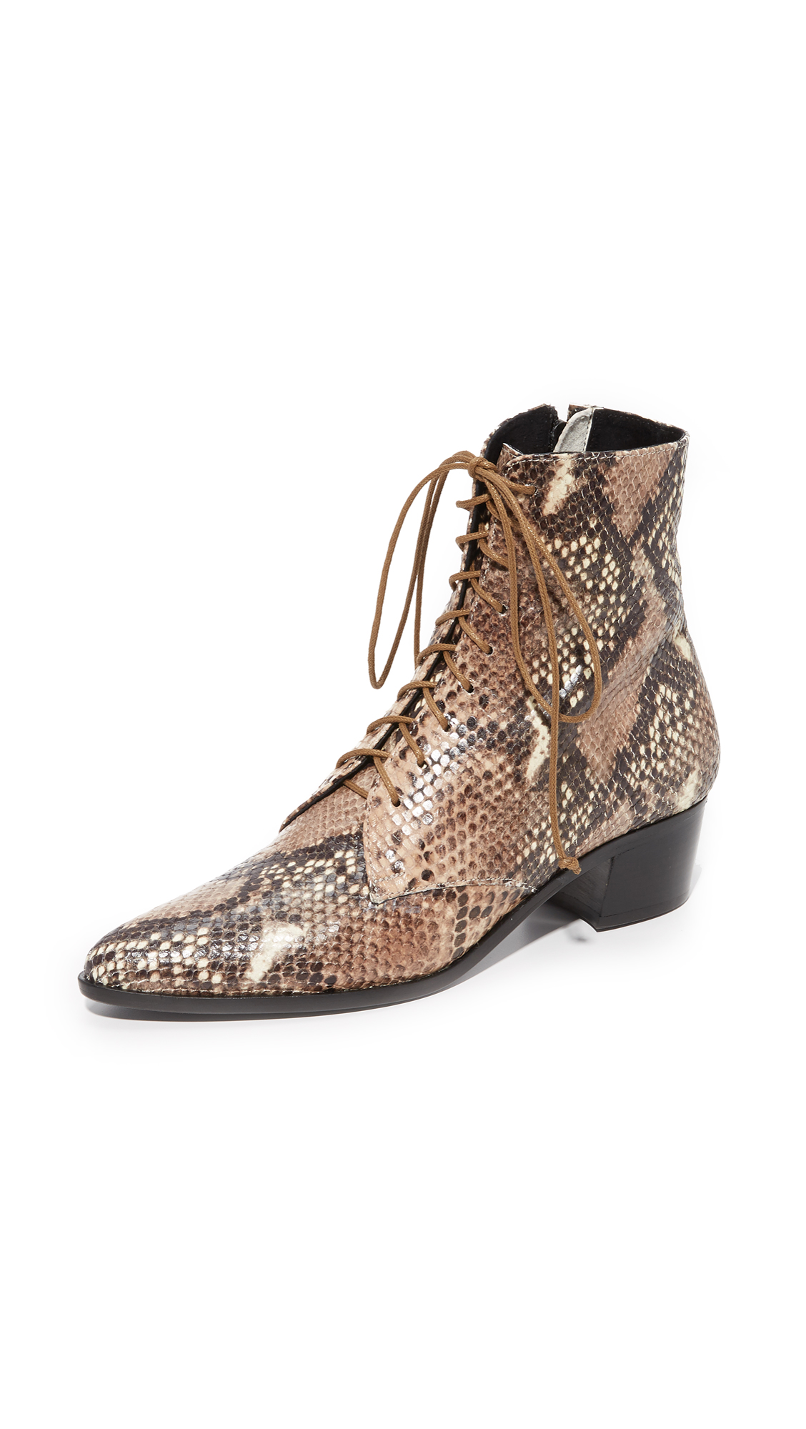 The Archive Barrow Lace Up Booties - Snake