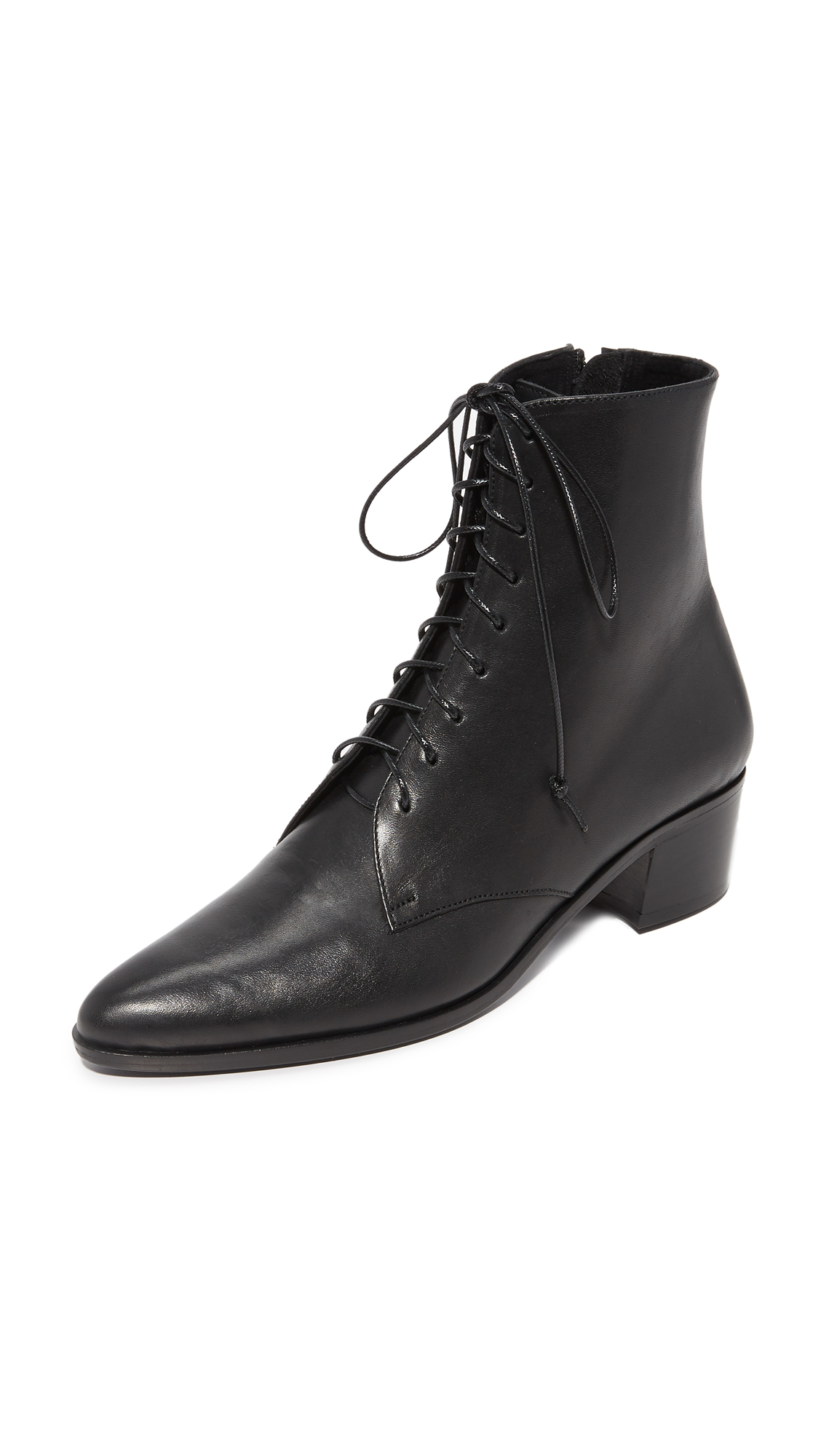 The Archive Barrow Lace Up Booties - Black