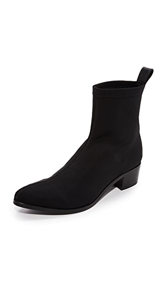 The Archive The Irving Stretch Booties In Black Neoprene