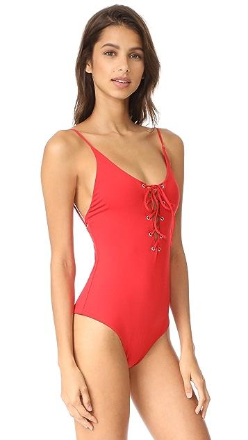 Tavik Swimwear Monahan Lace Up One Piece