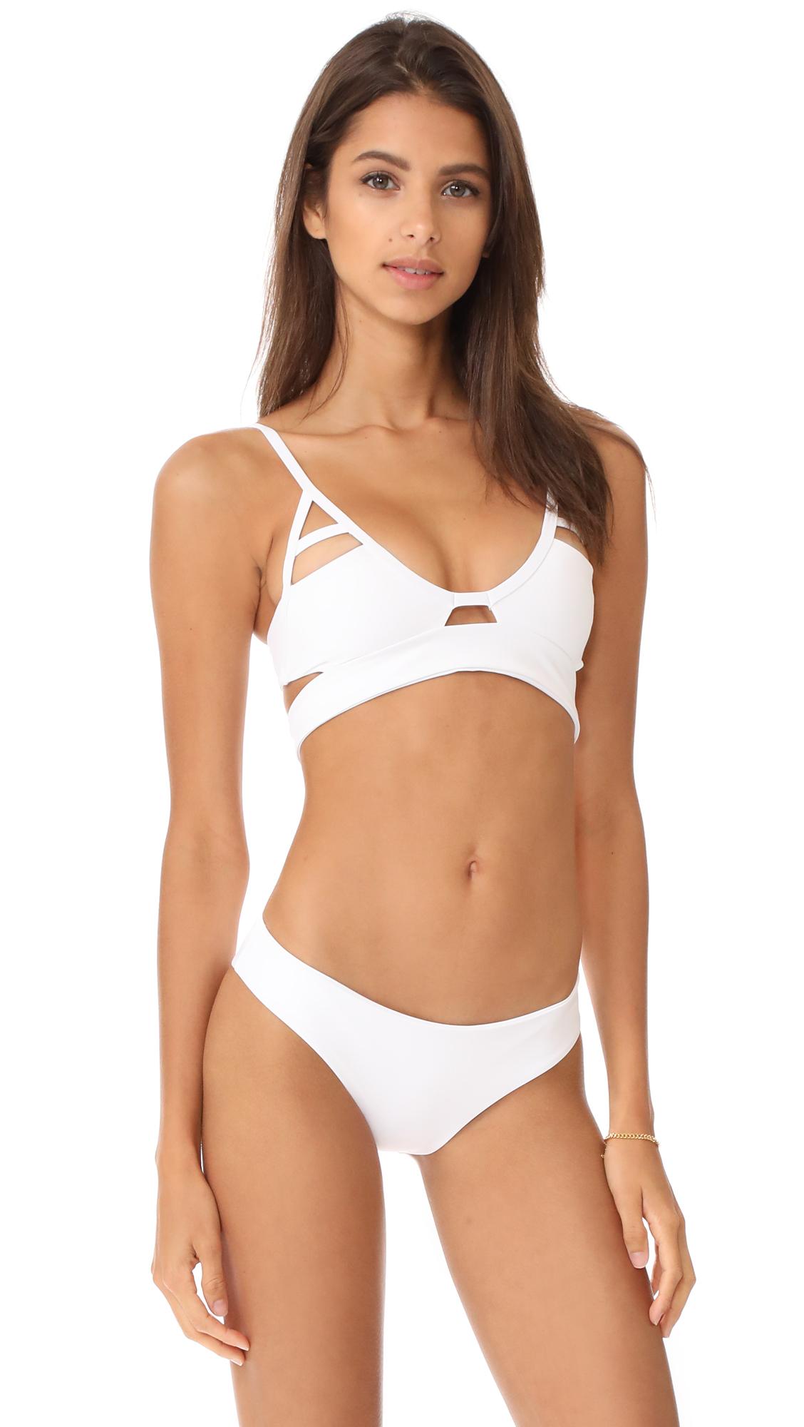 Tavik Swimwear Jessi Bikini Top In White