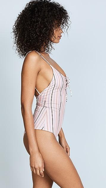 Tavik Swimwear Horizon Stripe Monahan One Piece