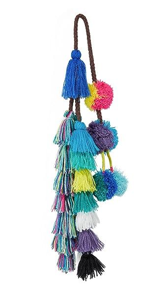 MISA Sayeh Pom Pom Bag Charm - Blue Combo