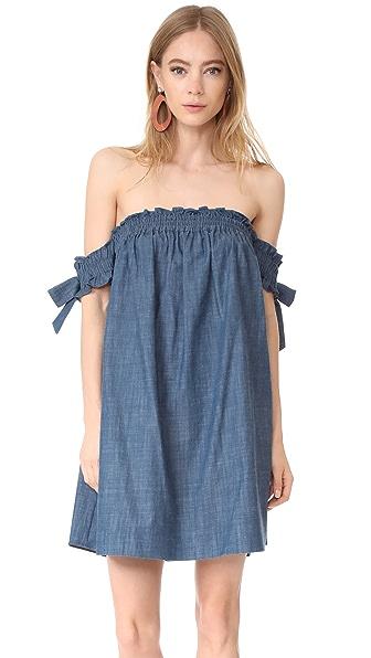 MISA Violeta Dress In Indigo