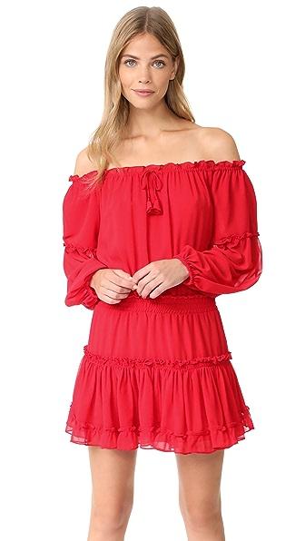 MISA Daria Dress - Crimson