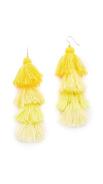 MISA Ombre Tassel Earrings
